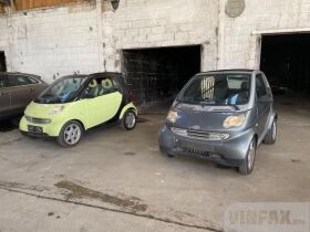 vin: WME01MC011H053866 2001 Smart Fortwo Cabriolet PULSE ENGINE PROBLEM, 0.7 Petrol 61 HP, 2d, Automatic 6speed, Rear Wheel