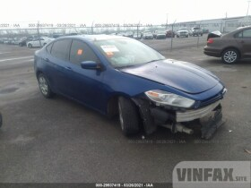 vin: 1C3CDFAA6ED698873 2014 Dodge Dart 2.0L For Sale in Carville LA