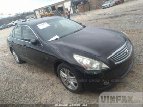 vin: JN1DV6AR4CM860146 2012 Infiniti G25 Sedan 2.5L For Sale in Concord NC