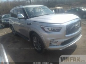 vin: JN8AZ2NE8K9235873 2019 Infiniti Qx80 5.6L For Sale in East Dundee IL