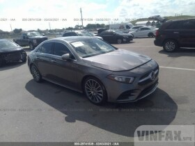 vin: WDD3G4EBXKW011992 2019 Mercedes-benz A-class 2.0L For Sale in Pembroke Pines FL